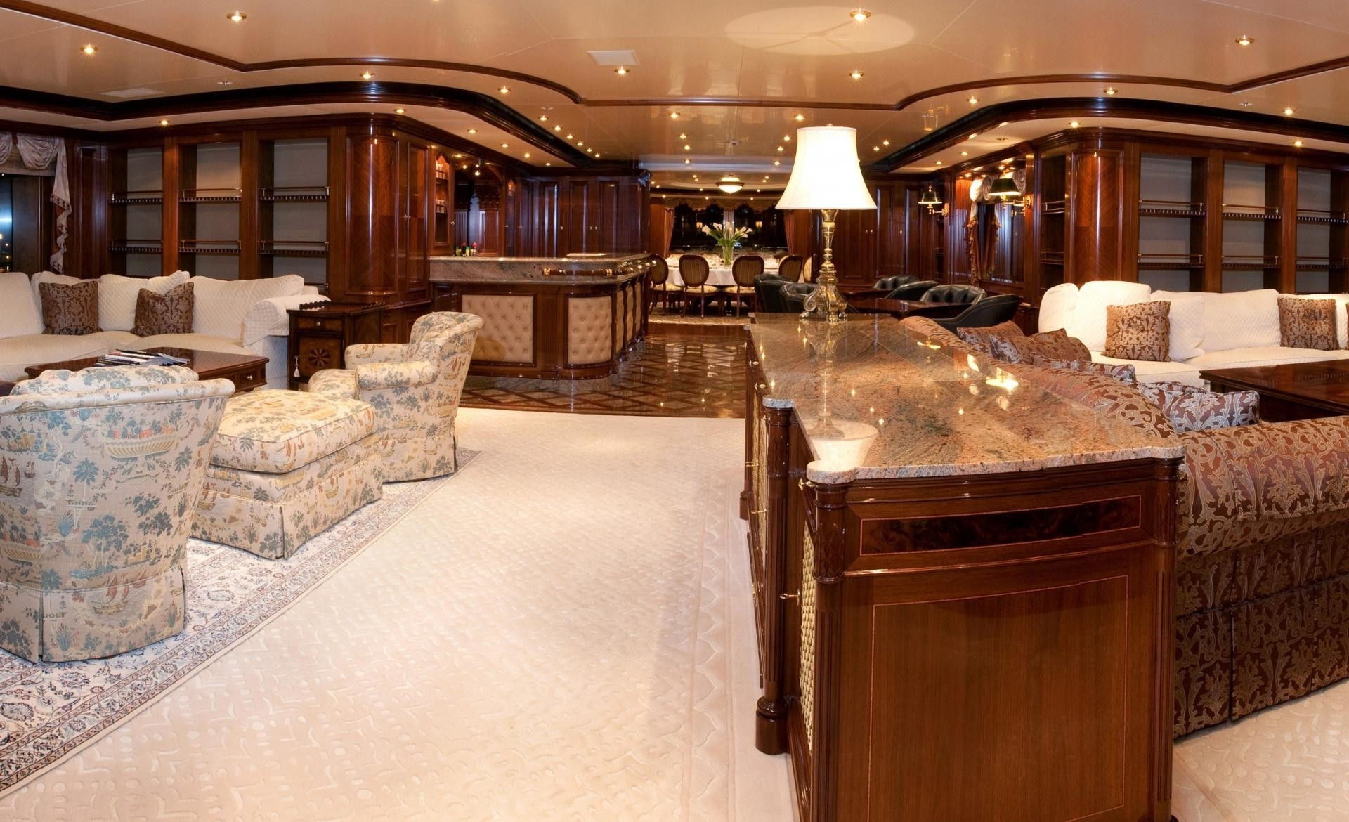 Profile: Yacht TITANIA's Premier Saloon Pictured