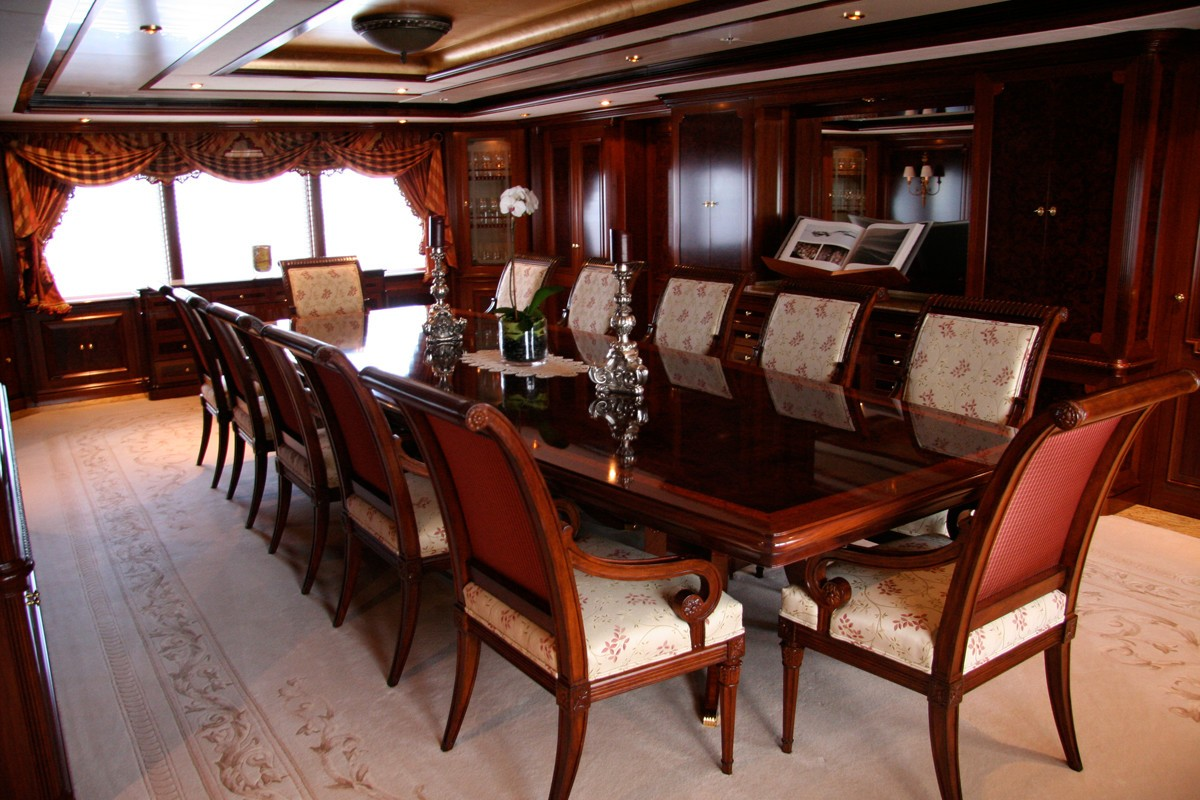 Eating/dining Zone On Board Yacht TITANIA