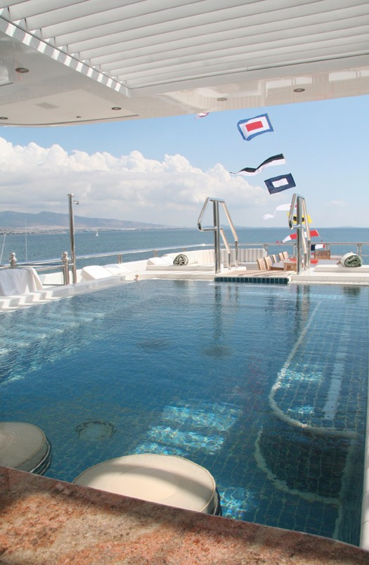 Swim Swimming Pool Aboard Yacht TITANIA
