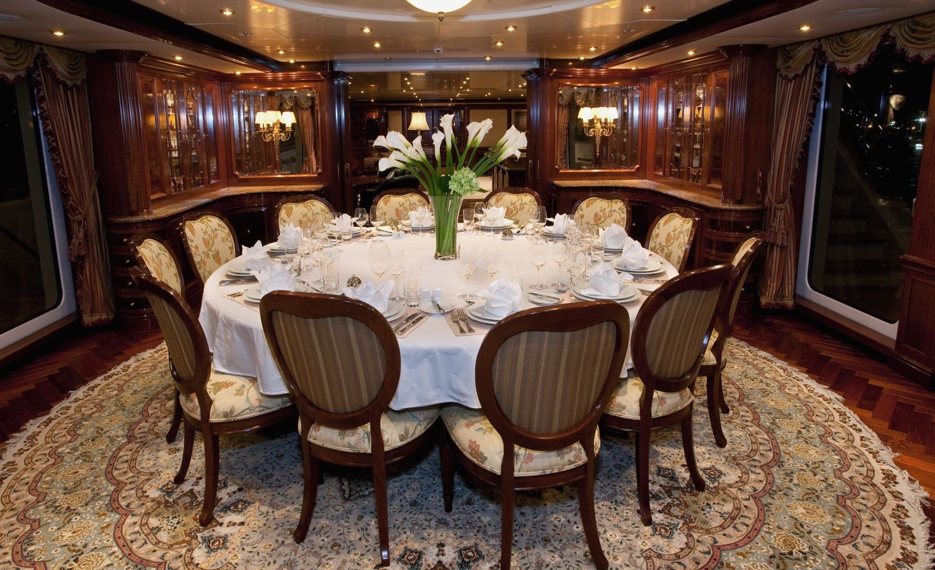 Formal Eating/dining On Yacht TITANIA