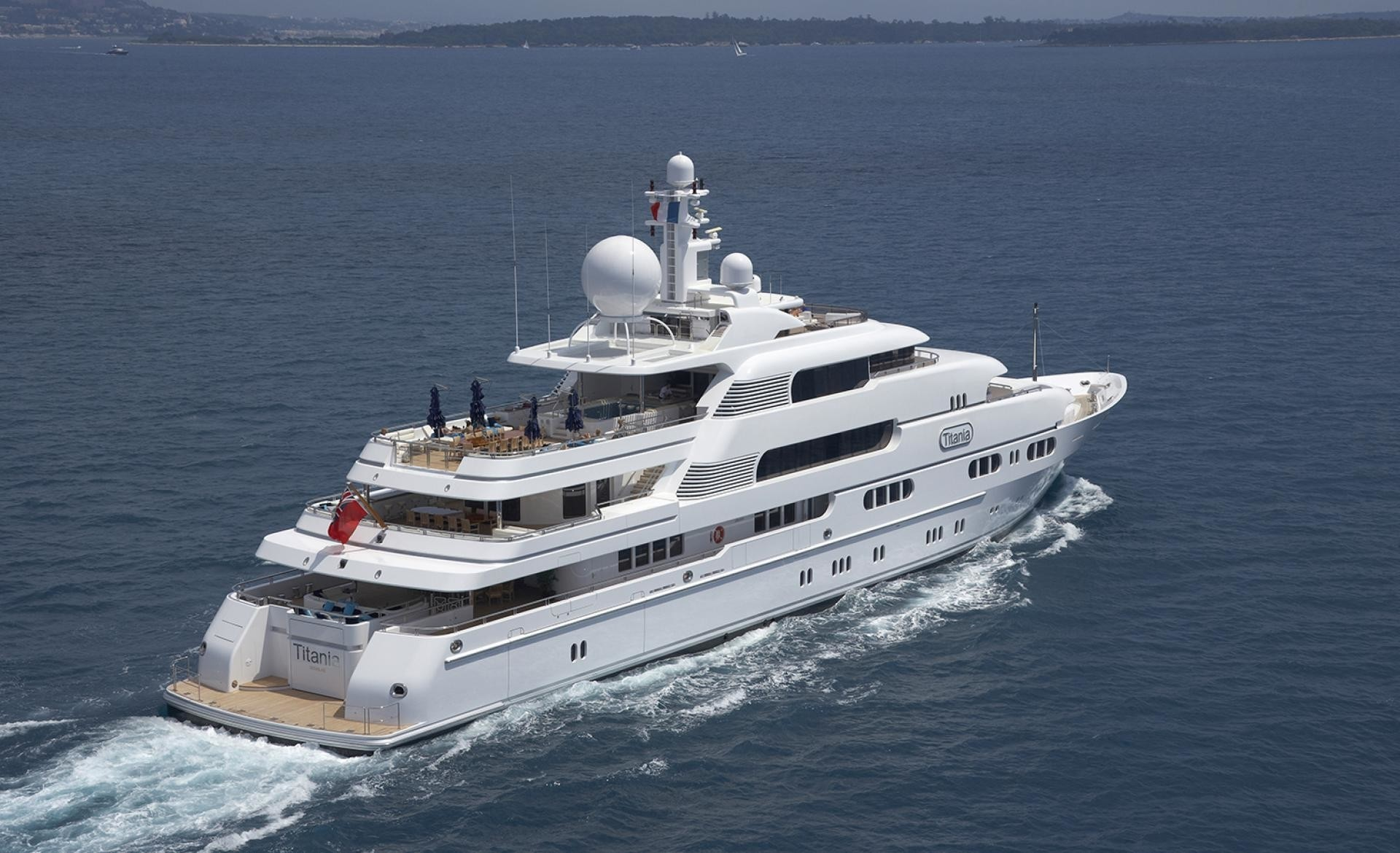 From Above Aspect: Yacht TITANIA's Cruising Captured
