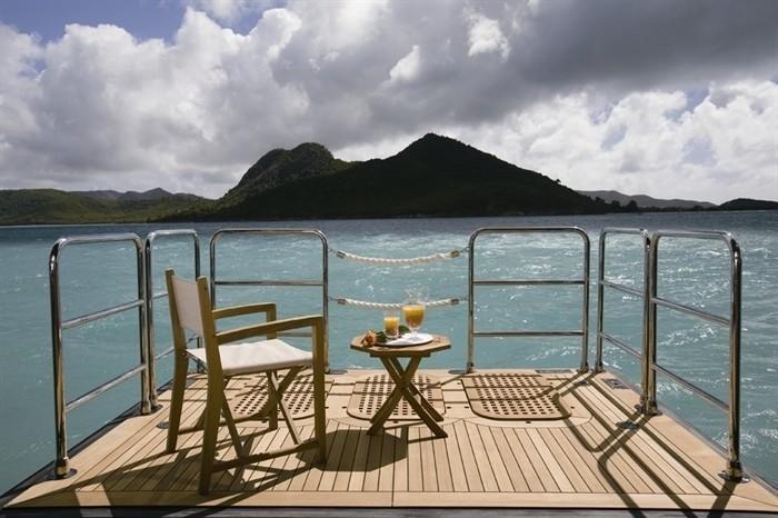 Swimming Deck On Yacht ALFA NERO