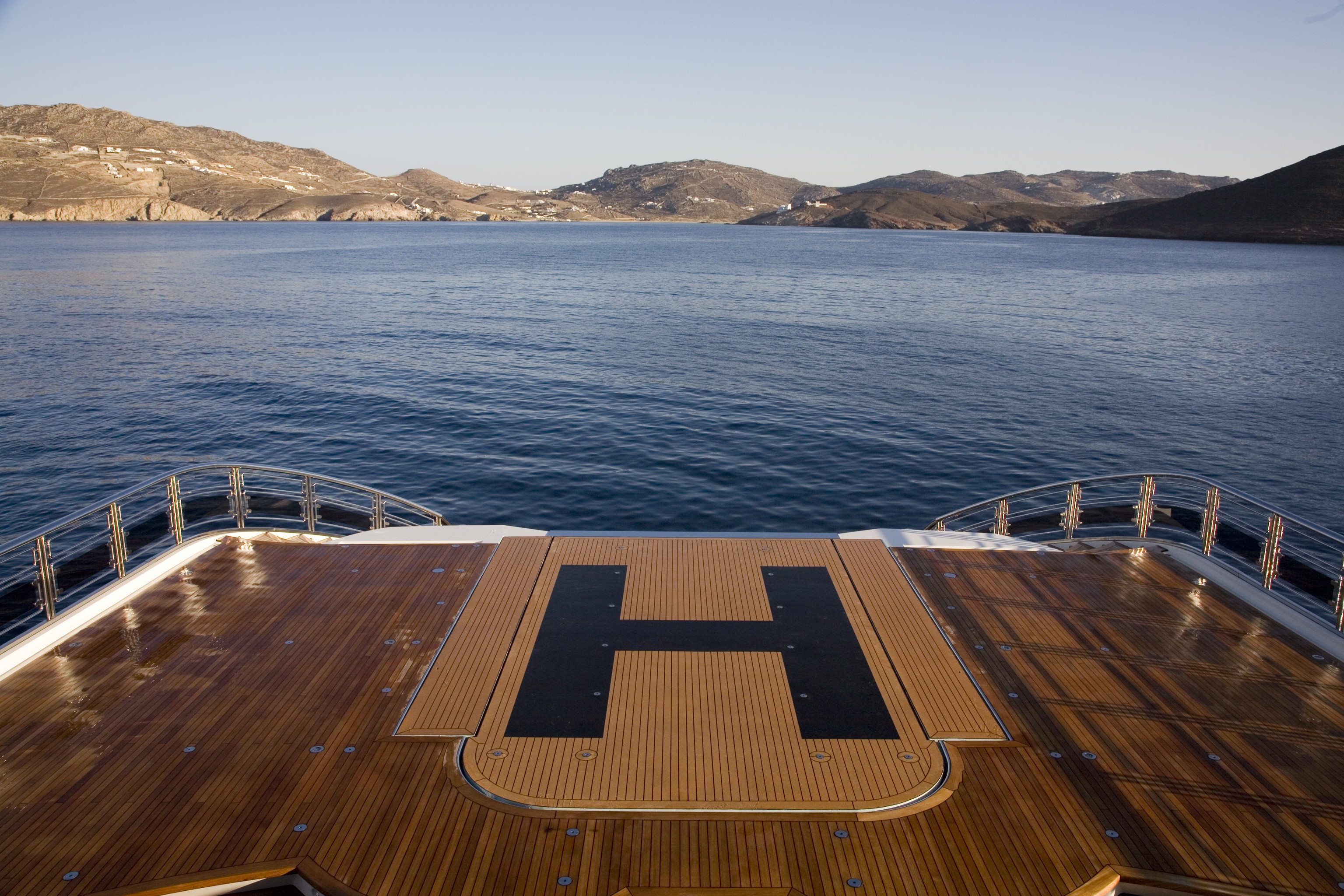 Helicopter Pad On Board Yacht ALFA NERO