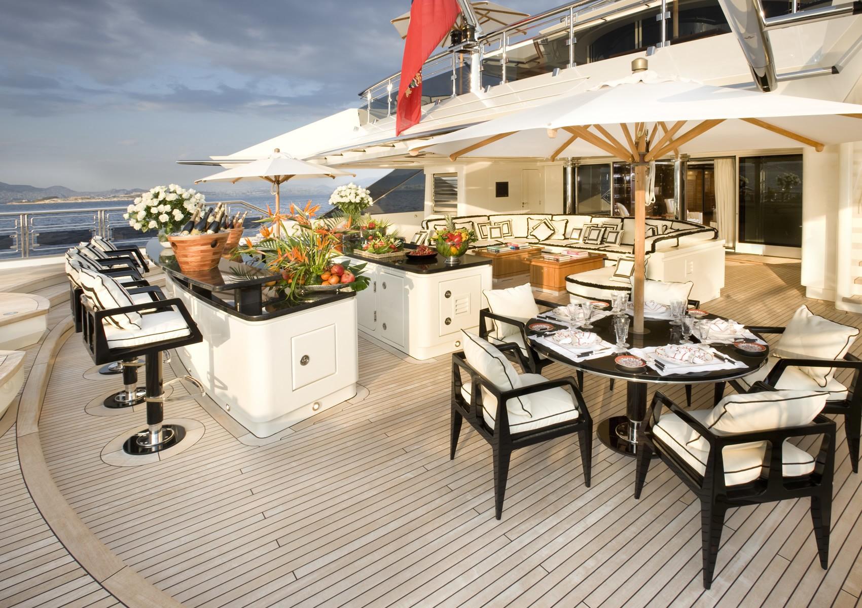 Drinks Bar Aboard Yacht ALFA NERO
