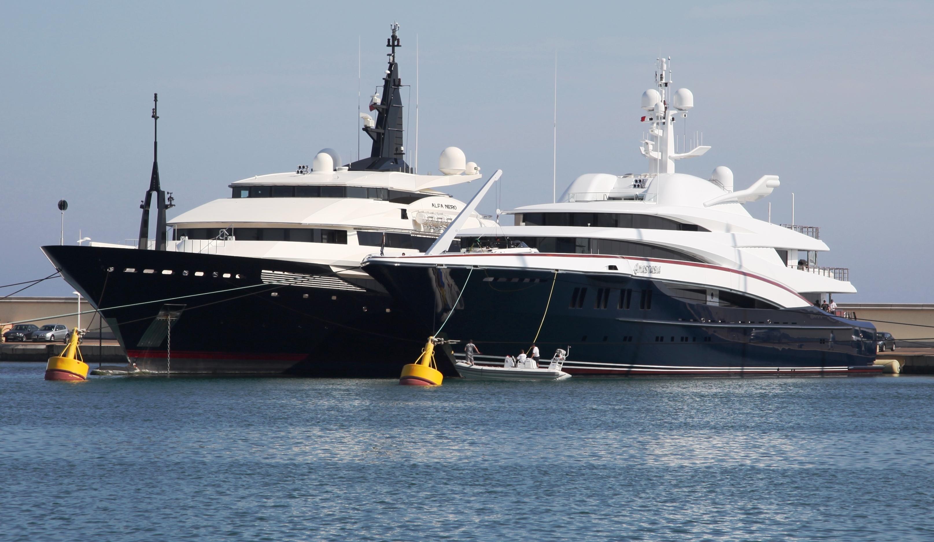 OceAnco Yachts ANASTASIA And ALFA NERO In Antibes, France