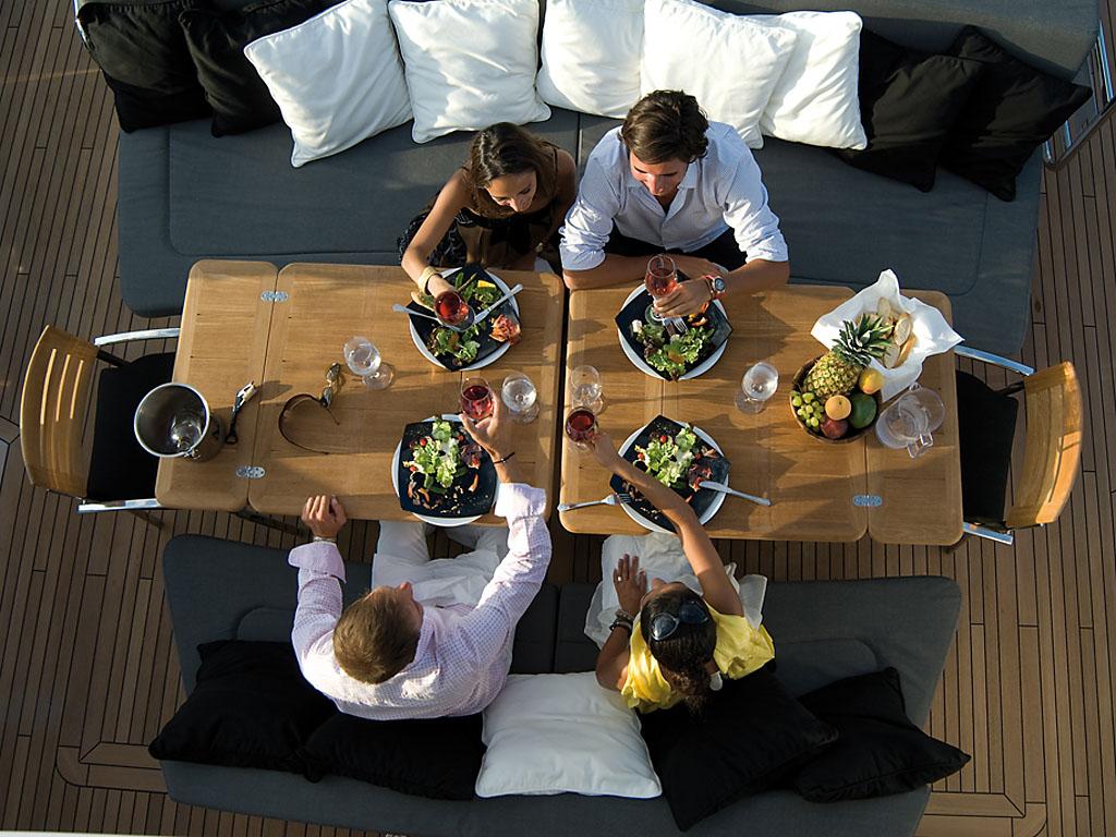 Sunseeker Predator 92 -  Al Fresco Dining On The Aft Deck