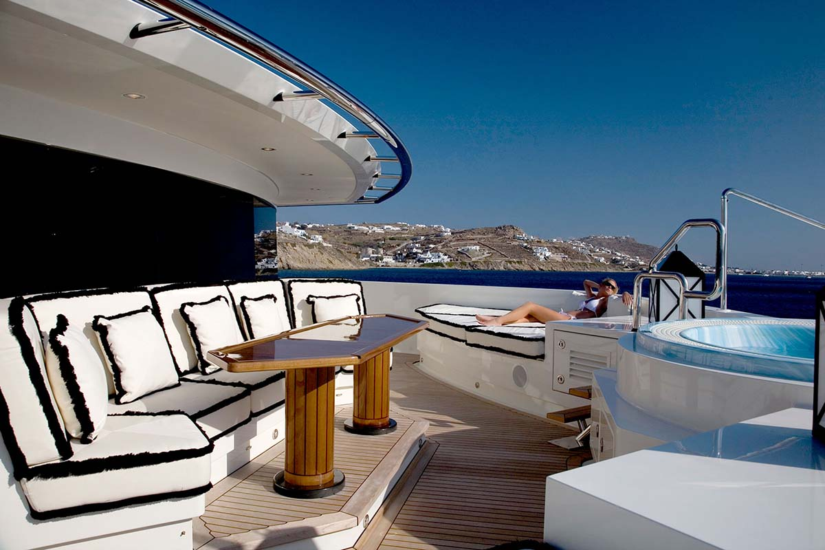 Yacht Alfa Nero In Greece  Master Stateroom Private Terrace