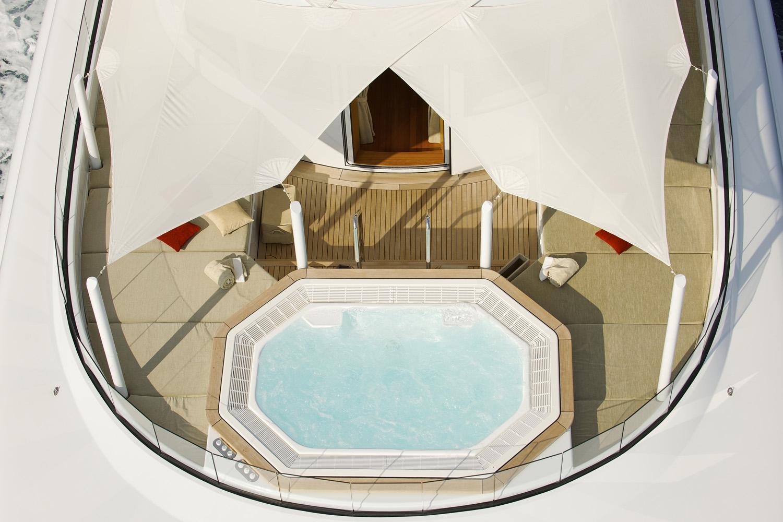 Yacht CAIPIRINHA By Lurssen - Sundeck And Jacuzzi Pool