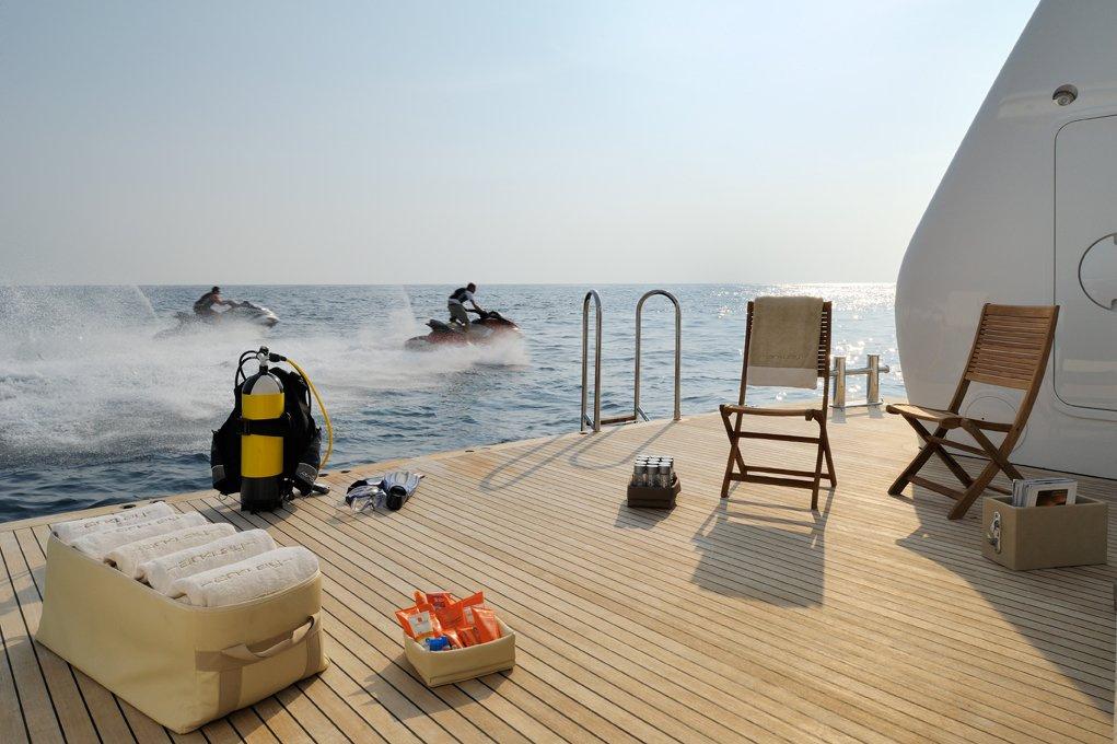 Yacht CAIPIRINHA By Lurssen - Swimming Platform And Water Toys