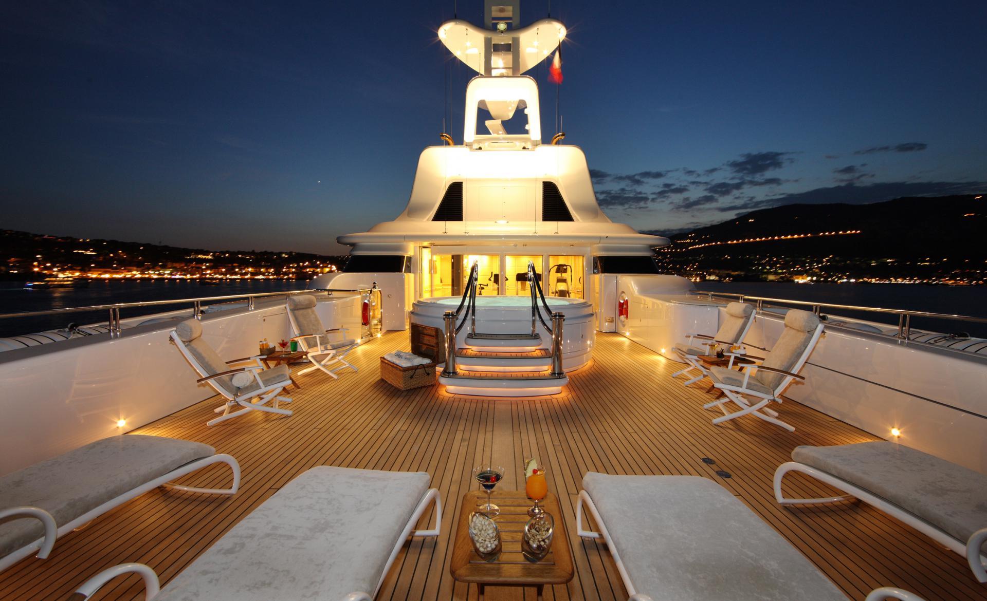 Yacht CAPRI By Lurssen - Sundeck Evening