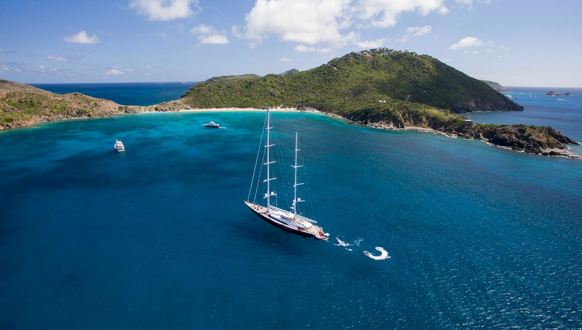 Yacht PANTHALASSA By Perini Navi - Moored In The Caribbean