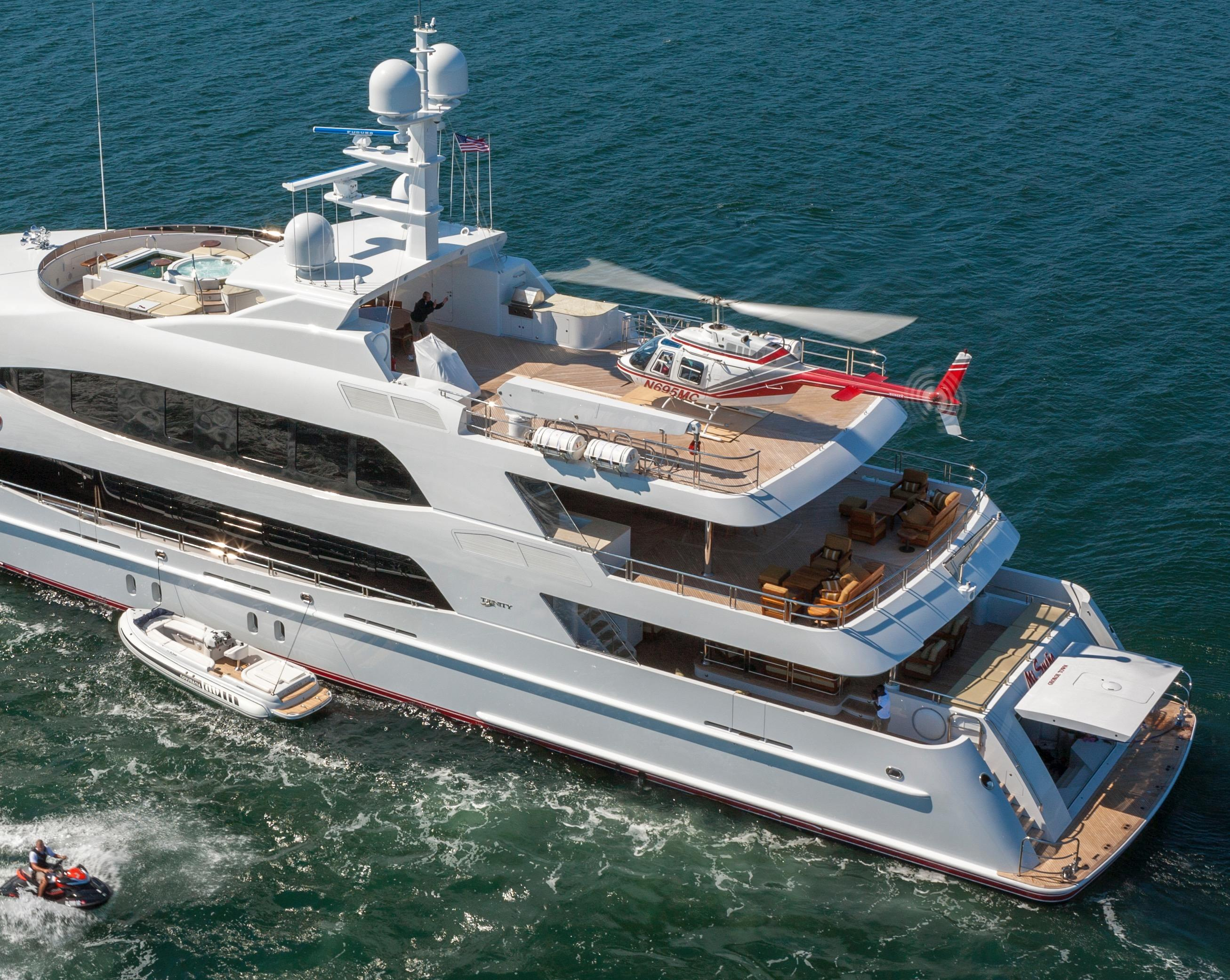 Yacht Skyfall By Trinity - Aft Deck With Helicopter