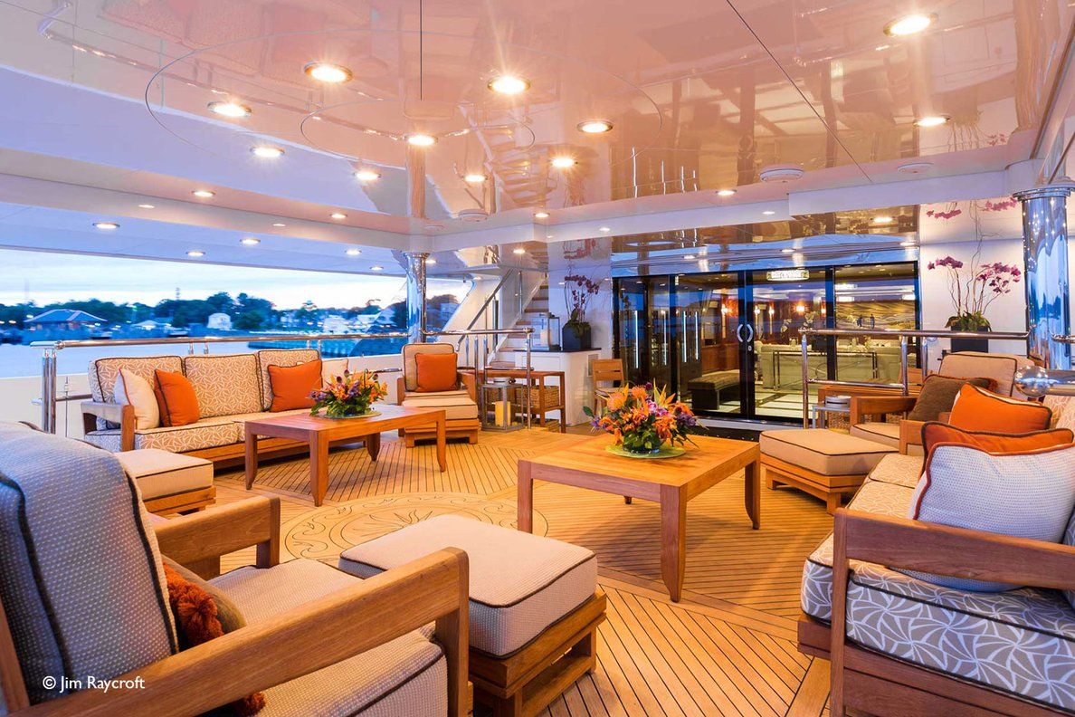 Yacht Skyfall By Trinity - Aft Outsdie Dining And Seating