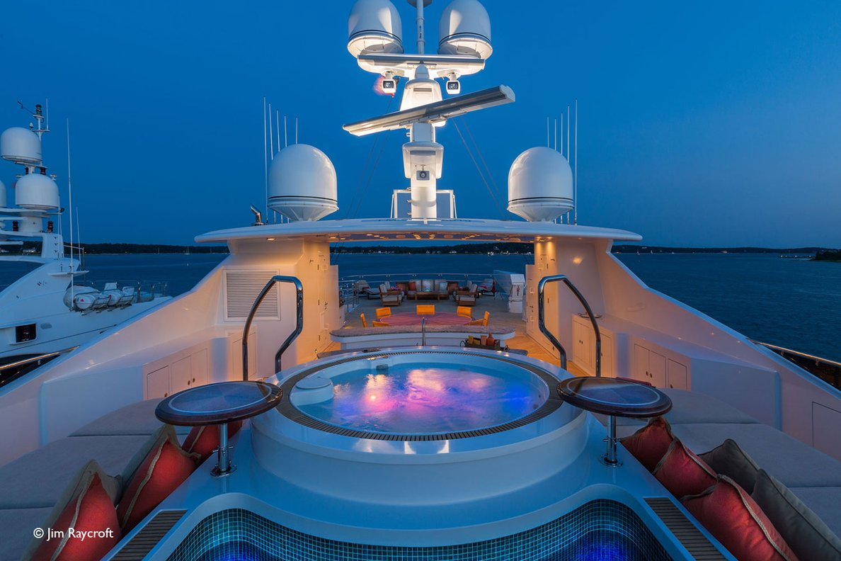 Yacht Skyfall By Trinity - Sundeck Evening