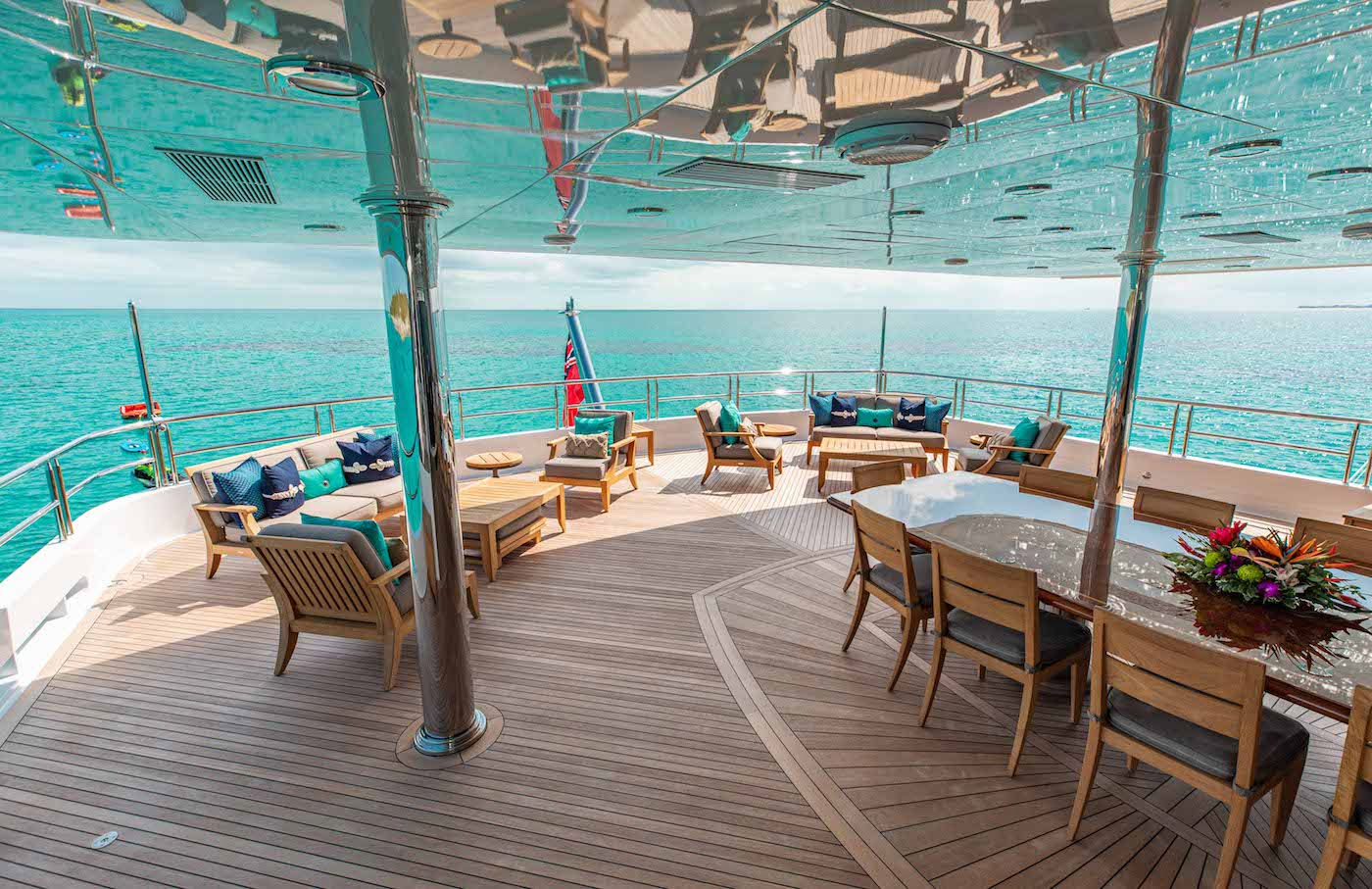 Aft Deck Seating And Dining Area