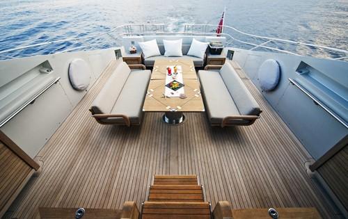 Aft Deck Aboard Yacht ESCAPE II