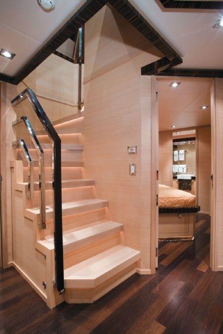 Stairway On Board Yacht ESCAPE II