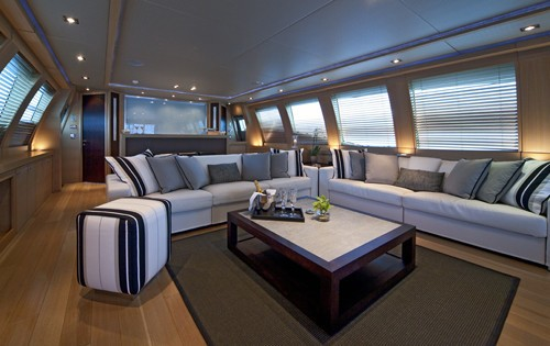 Saloon On Board Yacht ESCAPE II