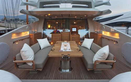 Aft Deck On Board Yacht ESCAPE II