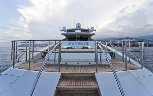 Aft Aspect On Yacht ESCAPE II