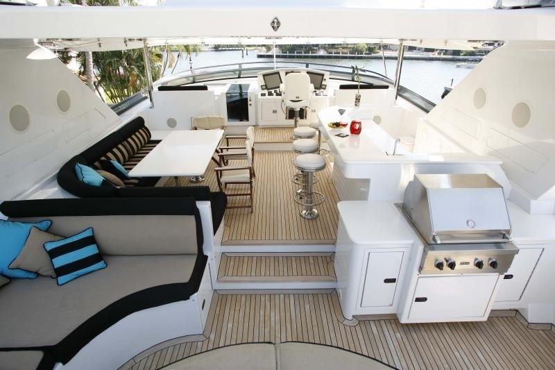 Sun Deck Aboard Yacht OCEAN CLUB