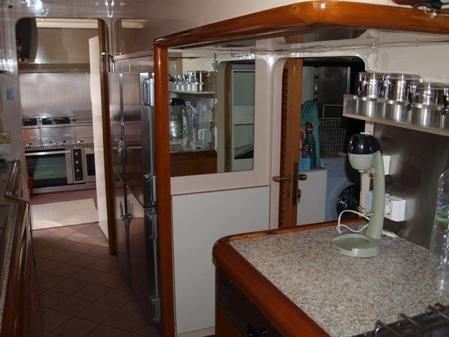 Ship's Galley Aboard Yacht PARADIS