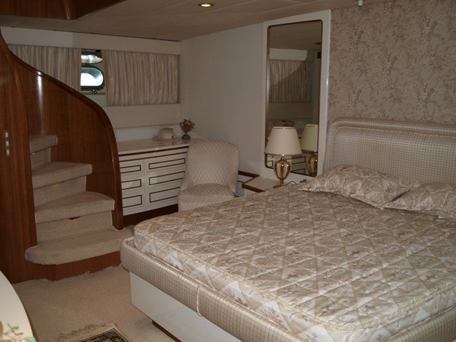 Staircase: Yacht PARADIS's Cabin Pictured