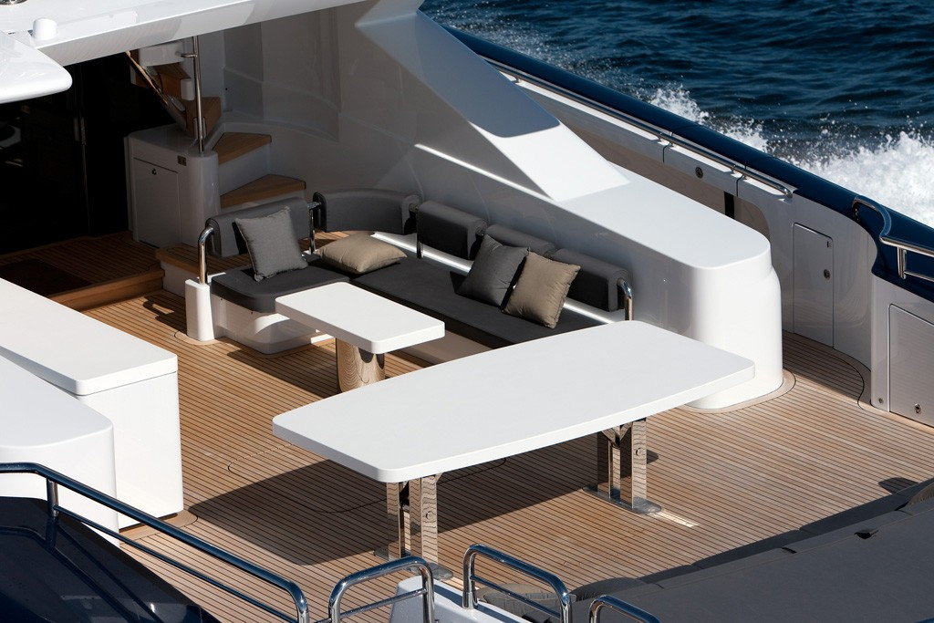 Aft Deck: Yacht QUANTUM's From Above Photograph