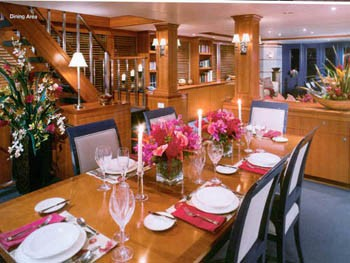 Formal Eating/dining Aboard Yacht MURPHY'S LAW