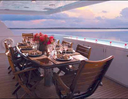 Aft Deck Eating/dining On Board Yacht MURPHY'S LAW