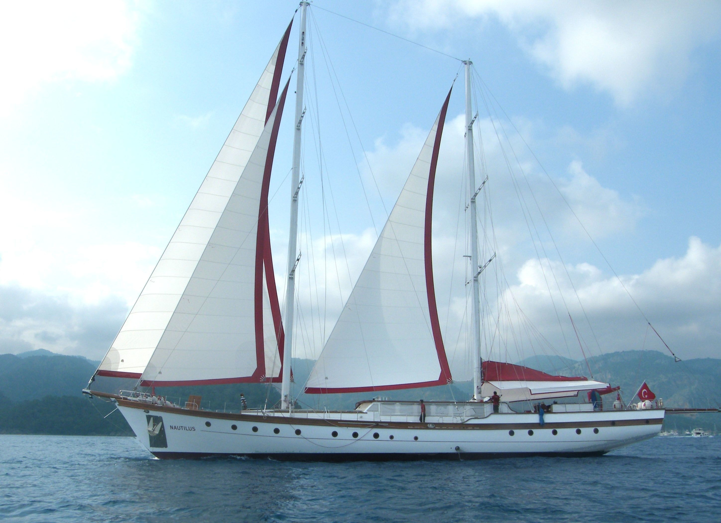 Sailing On Yacht NAUTILUS
