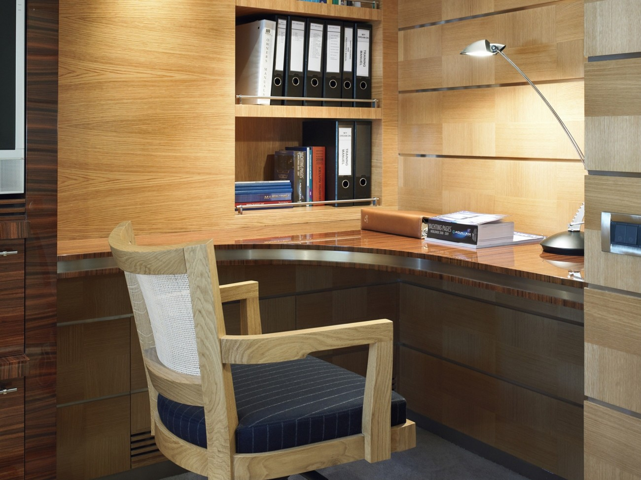 Main Master Office On Yacht DREAM ON