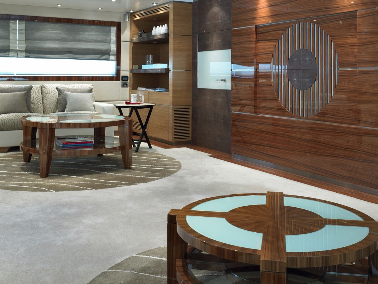 Close Up: Yacht DREAM ON's Saloon Pictured