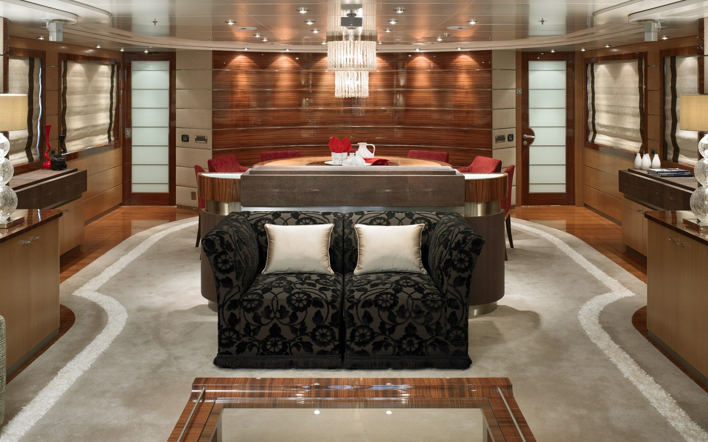 Profile: Yacht DREAM ON's Saloon Pictured