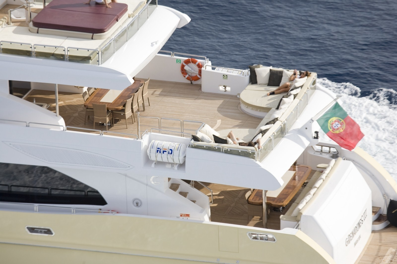 From Above Top Deck Aboard Yacht GRENADINES III