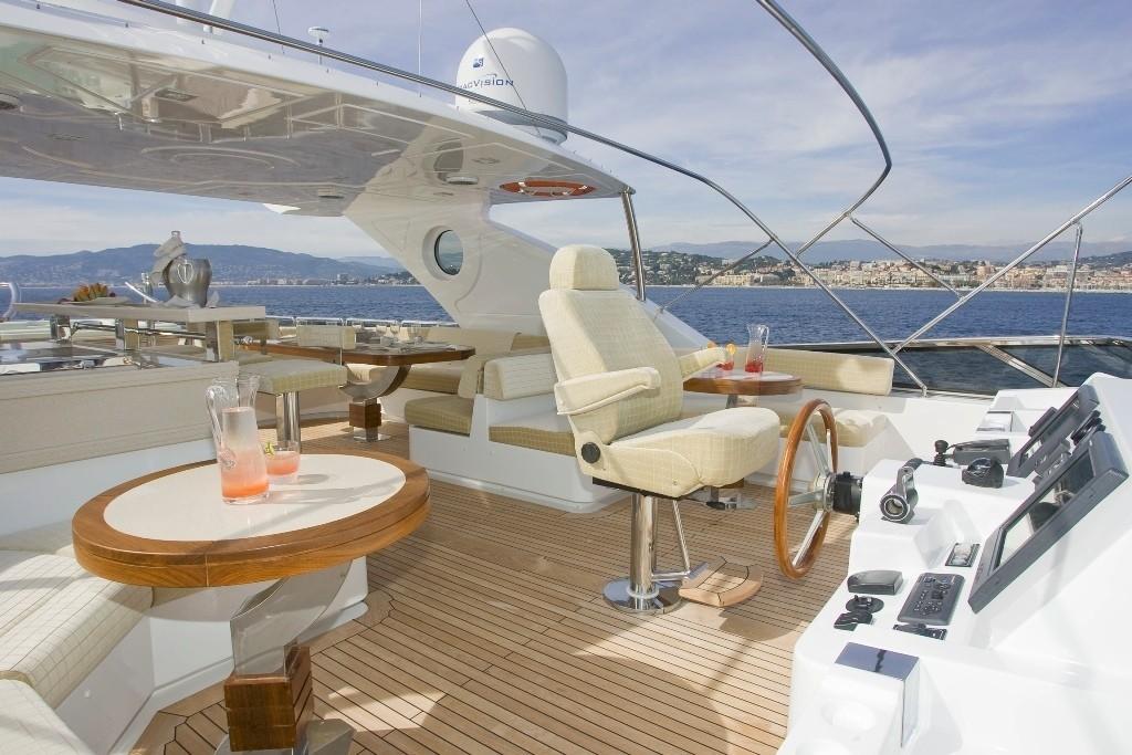 Fly-bridge On Yacht GRENADINES III