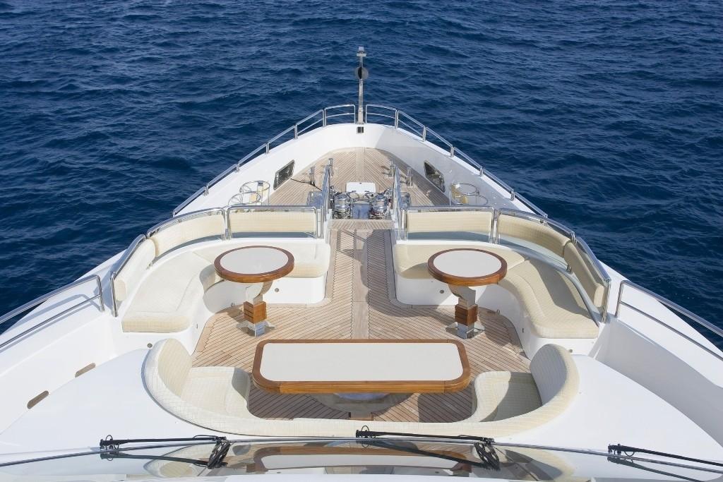 Fore Deck On Board Yacht GRENADINES III