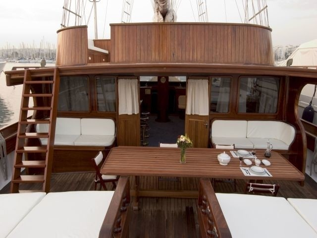 Aft Deck On Yacht MATINA