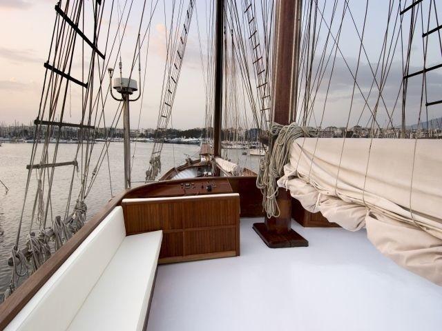 Top Deck Aboard Yacht MATINA