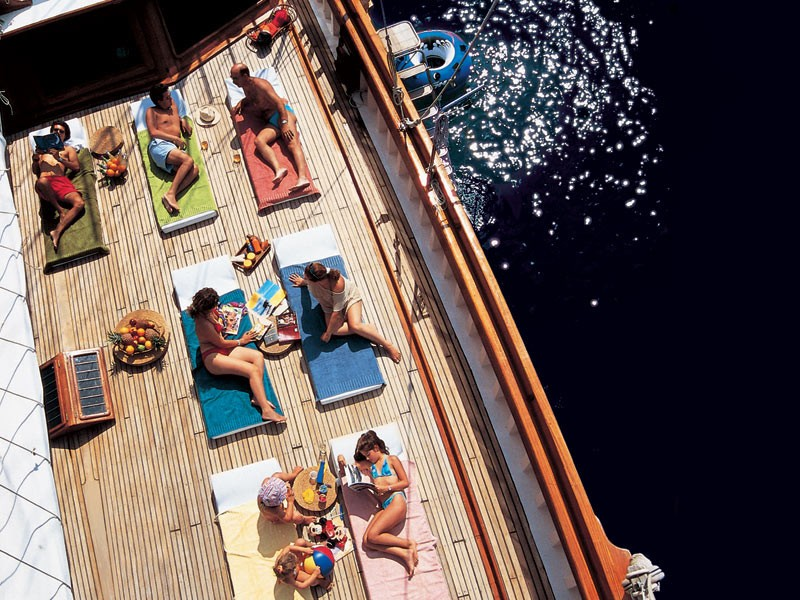 Deck: Yacht MATINA's From Above Aspect Photograph