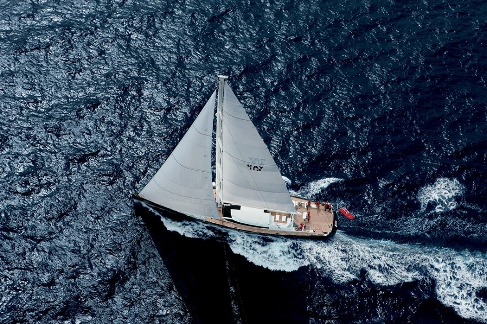 From Above: Yacht P2's Cruising Image