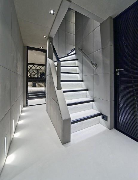 Staircase Aboard Yacht MANIFIQ