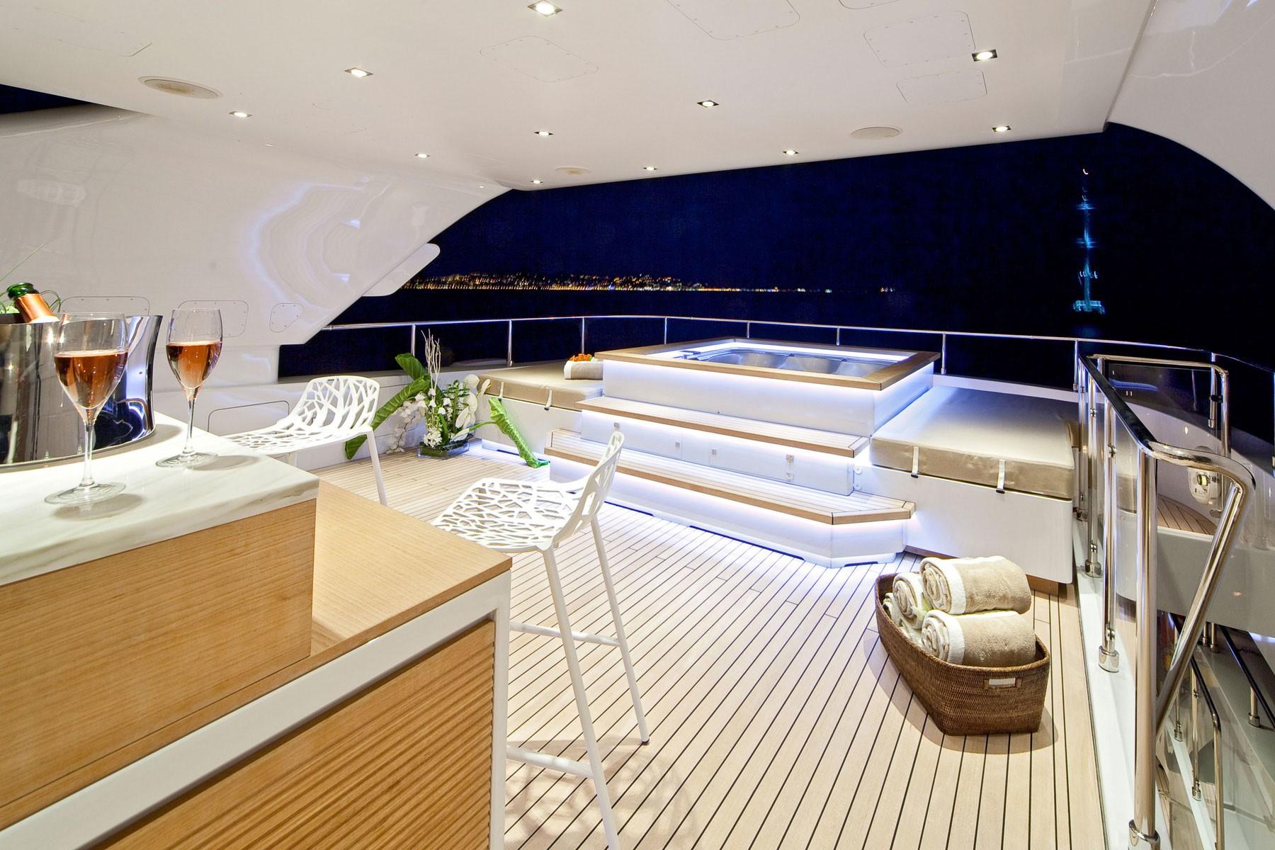 Evening: Yacht MANIFIQ's Jacuzzi Pool Captured