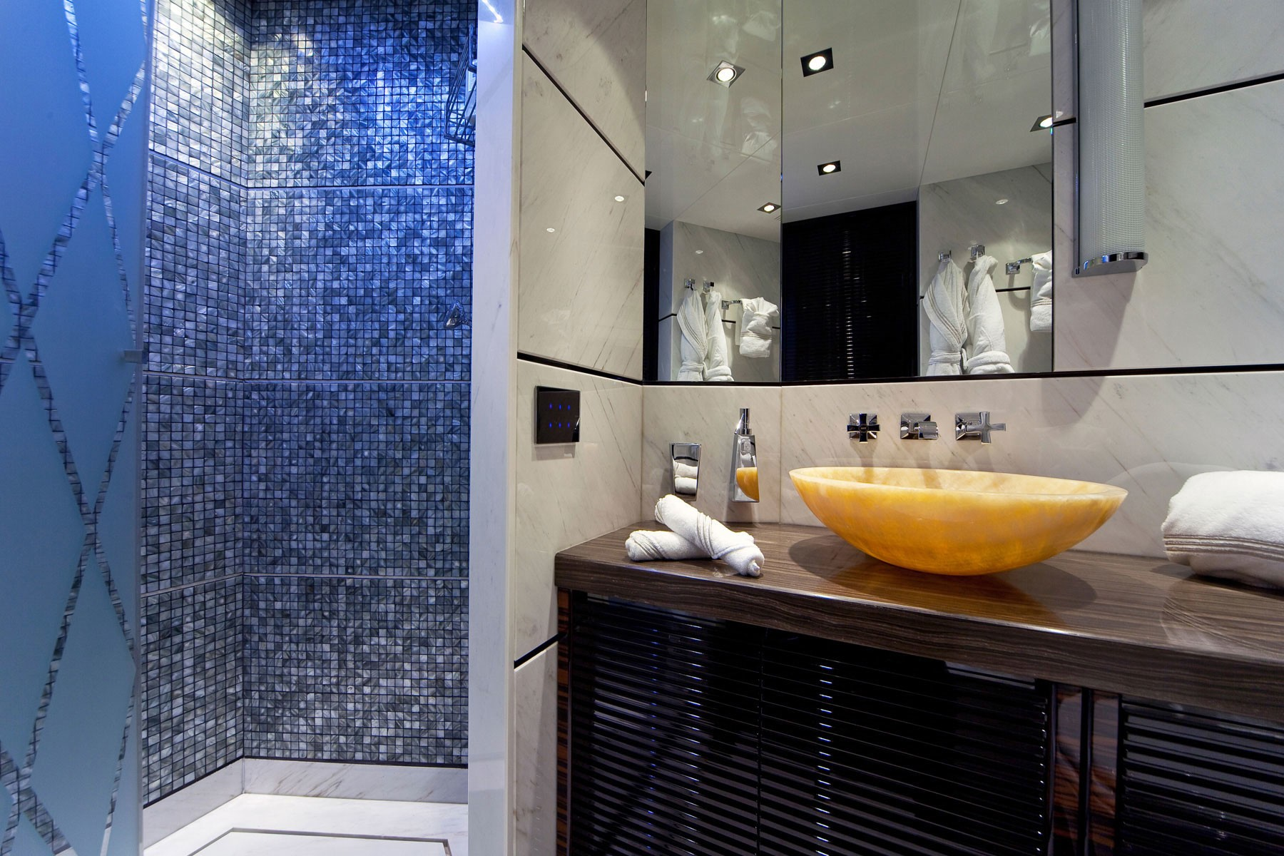 Showering Area On Yacht MANIFIQ