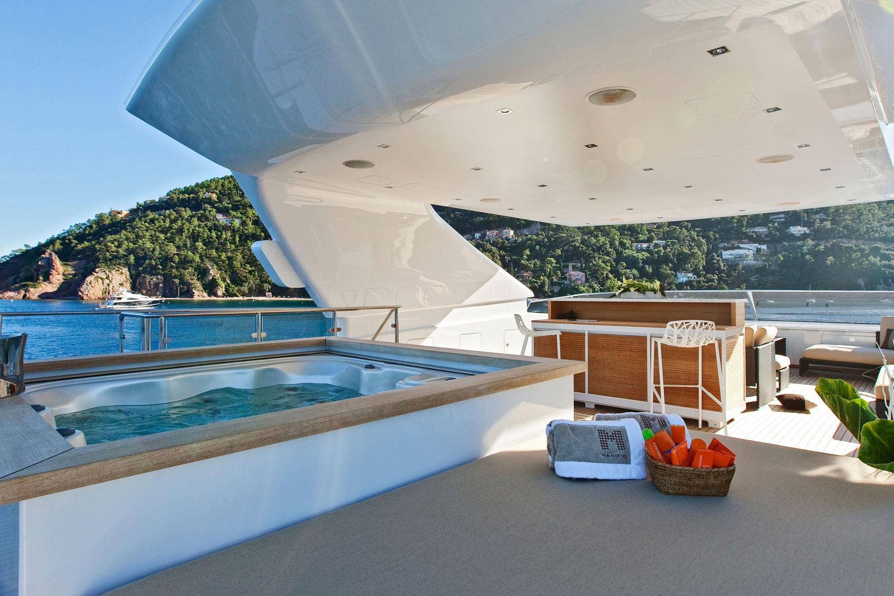 Jacuzzi Pool Aboard Yacht MANIFIQ