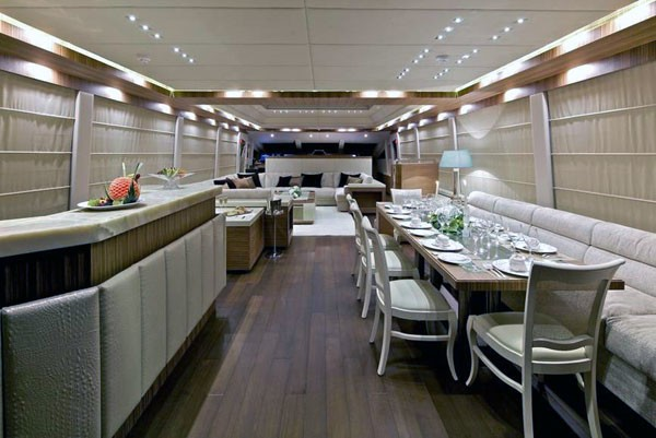 Eating/dining With Drinks Bar On Board Yacht O'PATI