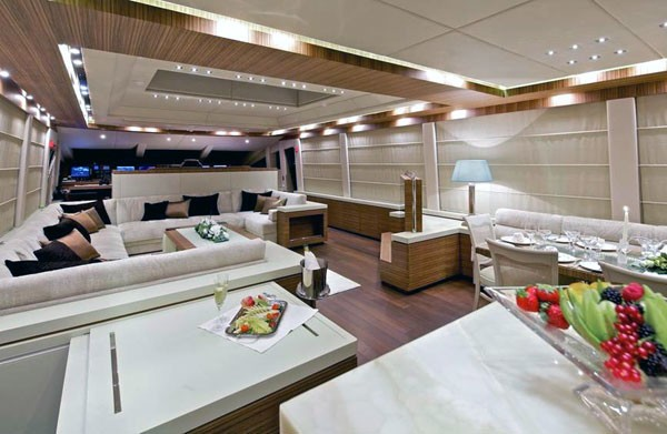 Saloon Aboard Yacht O'PATI