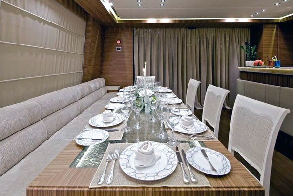 Formal Eating/dining Aboard Yacht O'PATI
