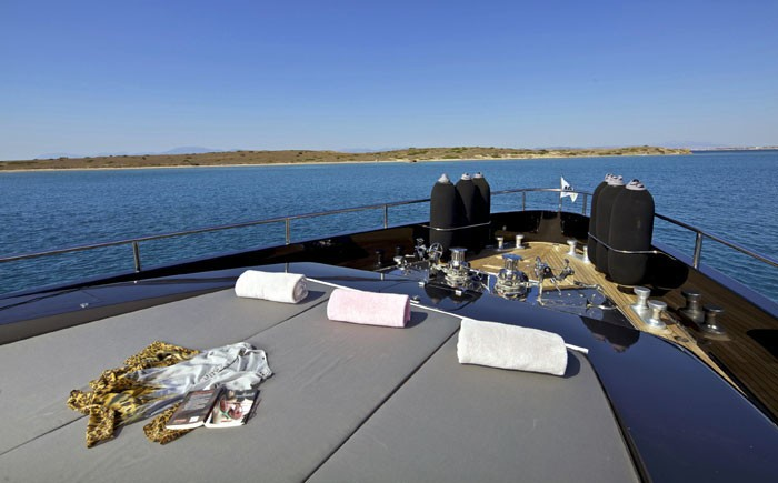 Sunshine Relaxing: Yacht O'PATI's Fore Deck Photograph