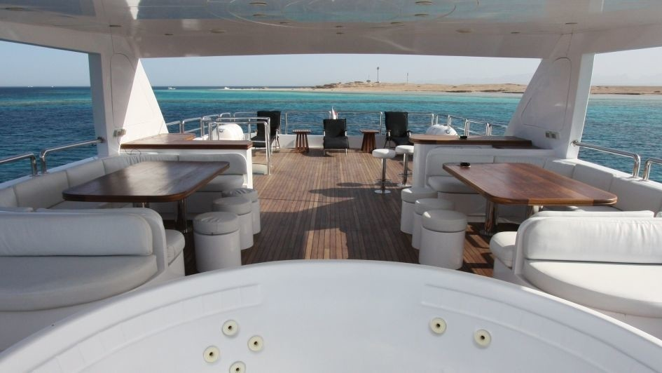 Deck Sitting On Board Yacht SEVEN SPICES